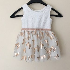 🦋Children's Place Gold Butterfly dress 🦋